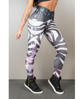 Brazilian Legging sublimation printed, - Zebra