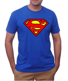T-Shirt Homme Sport - Superman - Bleu Royal