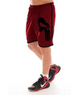 Short Sport pour Homme Rouge - The Punisher