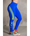 Brazilian Legging 2 Colors blue and yellow drawings