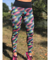 Women's Colorful Fitness Set Front Printed Back - Legging and Bra