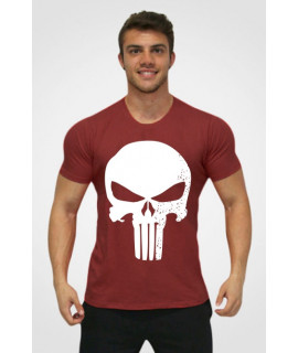 T-Shirt Homme Sport - The Punisher - Rouge Foncé