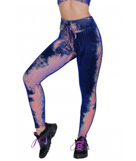 Purple Tie Dye 3D Polyamide Leggings