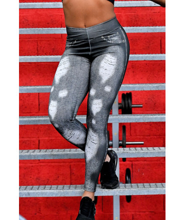 Brazilian Legging 2 Colors with Tulle - Black and Pink