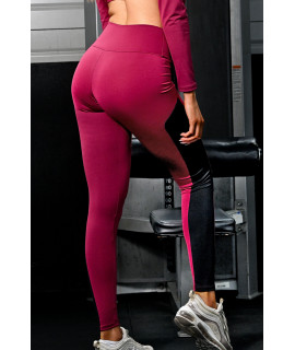 Colorful Women's Fitness Leggings in front and black behind with tulle