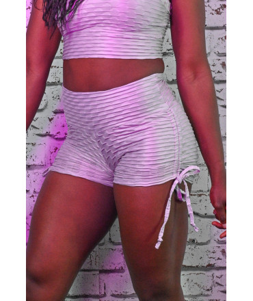 Short Lacets Femme Polyamide Relief - Push Up - Grey Pearl